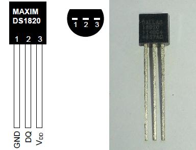 Распиновка температурного датчика DS18S20
